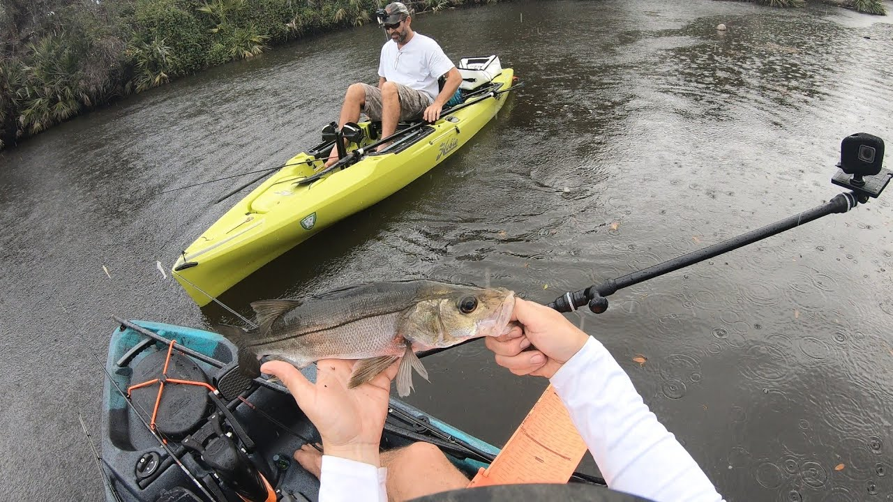 Florida River Fishing Old Town Topwater PDL and Hobie Outback Fat